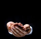 Männliche Hände, als ob, etwas anhalten Stockbilder