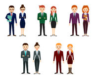 Männliche und weibliche Leuteikonen Leute-flache Ikonen-Sammlung Lizenzfreies Stockbild