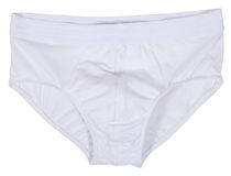 Männliche Unterwäsche lokalisiert auf Weiß Lizenzfreies Stockfoto