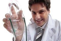 Männlicher Doktor oder Anesthetist Stockfoto