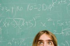 Männlicher Student, der nervös schaut Lizenzfreies Stockfoto