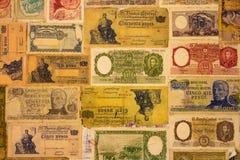 Mnodzy starzy banknoty Argentyńska republika zdjęcie stock