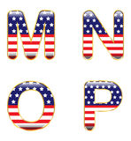 MNOP patriótico ilustración del vector