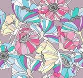 mönsan blom- blommor för bakgrund seamless Royaltyfri Foto