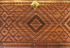 Bambuväv texturerar Royaltyfri Foto