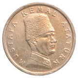 Münze der türkischen Lira Stockbild