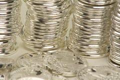 Münze gestapelt Stockbilder