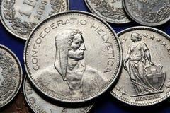 Münzen von der Schweiz Lizenzfreie Stockfotografie