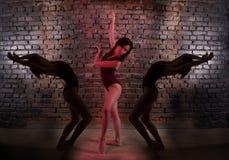 Moça, bailarina, Foto de Stock Royalty Free