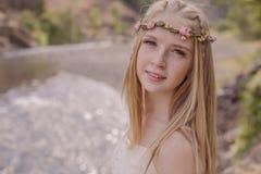 Moça bonita Imagens de Stock Royalty Free