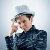 Moça com chapéu Imagem de Stock Royalty Free