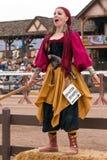 Moça Jousting do renascimento do evento Fotos de Stock Royalty Free
