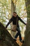 Moça na árvore Imagem de Stock Royalty Free