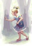 Moça perdida em uma floresta Imagem de Stock Royalty Free