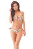 Moça 'sexy' no swimmingsuit com bordos grandes e o looki grande dos olhos Imagens de Stock