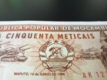 Moçambikisk Metical Fotografering för Bildbyråer