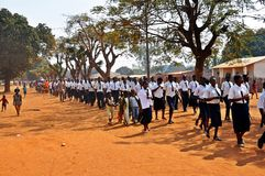 Moçambique Victory Day, Metarica, Niassa, Sept 07 Fotos de Stock Royalty Free
