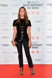 Moët British Independent Film Awards 2014. LONDON, ENGLAND - DECEMBER 07: Alicia Vikander attends the Moet British Independent Film Awards 2014 at Old royalty free stock images