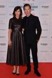 Moët British Independent Film Awards 2014. LONDON, ENGLAND - DECEMBER 07: Sophie Hunter; Benedict Cumberbatch attends the Moet British Independent Film Awards stock photography