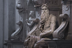 Moïse avec des klaxons Photographie stock