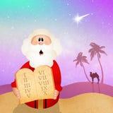 Moïse avec dix commandements Photos libres de droits