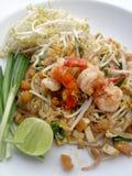 Mości Tajlandzkich, smażących ryżowych kluski z garnelą, Tajlandzcy smażący kluski Obraz Stock