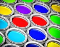może kolorową farbą Obrazy Stock