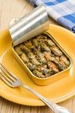 może mussels otwierająca dymiąca cyna Obraz Royalty Free