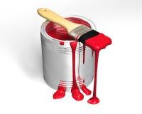może target671_0_ paintbrush Fotografia Royalty Free