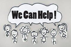 Możemy Pomagać obsługi klienta poparcia pojęciu zdjęcie stock