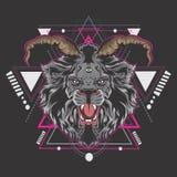 Możny lwa królewiątko royalty ilustracja