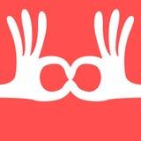 Mão aprovada Imagens de Stock