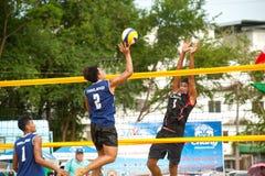 27mo Campeonato asiático suroriental del voleibol de playa. Imágenes de archivo libres de regalías