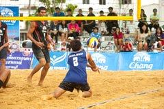 27mo campeonato asiático suroriental del voleibol de playa. Imagen de archivo libre de regalías