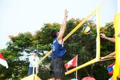 27mo campeonato asiático suroriental del voleibol de playa. Fotos de archivo