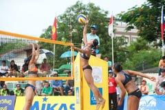 27mo campeonato asiático suroriental del voleibol de playa. Imagenes de archivo