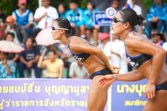 27mo campeonato asiático suroriental del voleibol de playa. Foto de archivo