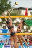 27mo campeonato asiático suroriental del voleibol de playa. Fotografía de archivo libre de regalías