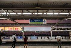 Mo Chit BTS Station. Bangkok, Thailand - April 27, 2016: Mo Chit BTS Station is a BTS skytrain station, on the Sukhumvit Line in Chatuchak District, Bangkok royalty free stock photo