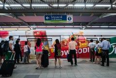 Mo Chit BTS Station. Bangkok, Thailand - April 27, 2016: Mo Chit BTS Station is a BTS skytrain station, on the Sukhumvit Line in Chatuchak District, Bangkok stock image