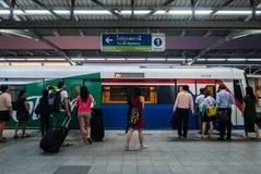 Mo Chit BTS Station. Bangkok, Thailand - April 27, 2016: Mo Chit BTS Station is a BTS skytrain station, on the Sukhumvit Line in Chatuchak District, Bangkok stock photography