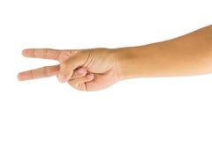 Mão com dois dedos Imagem de Stock Royalty Free