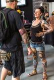 10mo convenio internacional del tatuaje en centro de la Congreso-EXPO de Kraków Imágenes de archivo libres de regalías