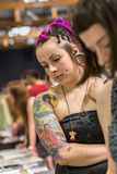 10mo convenio internacional del tatuaje en centro de la Congreso-EXPO de Kraków Fotografía de archivo