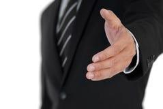 Mão da agitação do homem de negócio Fotografia de Stock