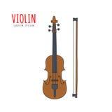 Mão da ilustração do vetor do violino tirada Imagens de Stock