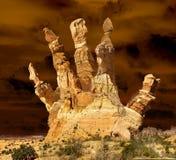 Mão da rocha Fotografia de Stock Royalty Free