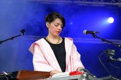 MO DanishBFlecha band show at Sonar Festi Royalty Free Stock Images