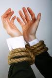 Mão do ligamento Foto de Stock