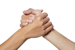 Mão do sócio Foto de Stock